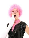 Verrast grappig meisje Stock Foto's