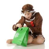 Verrast Peperkoekmeisje stock fotografie