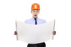 Verraste bouwvakker Royalty-vrije Stock Foto