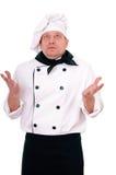 Verraste chef-kok royalty-vrije stock fotografie