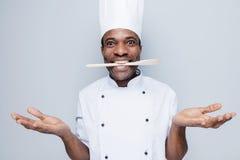 Verraste chef-kok Stock Foto's