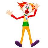 Verraste Clown Illustration Royalty-vrije Stock Foto's