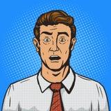 Verraste de stijl vectorillustratie van het mensenpop-art Royalty-vrije Stock Fotografie