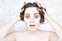 Verraste jonge vrouw Royalty-vrije Stock Foto