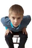 Verraste jongen Stock Foto's
