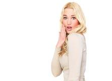 Verraste Mooie Blond Royalty-vrije Stock Foto