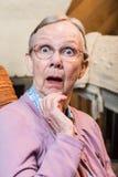 Verraste oude vrouw Royalty-vrije Stock Foto