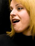 Verraste vrouw Stock Fotografie