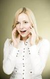 Verraste vrouw Royalty-vrije Stock Foto