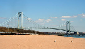 The Verrazano–Narrows Bridge. From Staten Island Stock Image