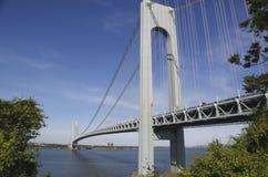 Verrazano桥梁在纽约 免版税图库摄影