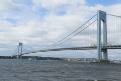 Verrazano桥梁在纽约 图库摄影