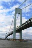 Verrazano桥梁在纽约 免版税库存图片