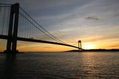 Verrazano桥梁在纽约 免版税库存照片
