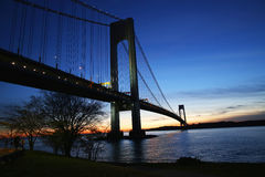 Verrazano桥梁在纽约 库存图片