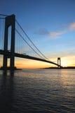 Verrazano-Brücke in New York Lizenzfreies Stockfoto