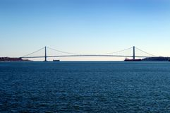 Verrazano bridge. Verrazano narrows bridge royalty free stock images