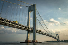 Verrazano bridge during the day. Verrazano bridge connecting Brooklyn to Staten Island in daytime stock image