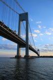 Verrazano Bridge at dusk in New York Stock Image