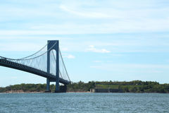 Verrazano Bridge and Fort Wadsworth in New York Royalty Free Stock Images