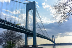 Verrazano Bridge - New York City. Verrazano bridge connecting Brooklyn to Staten Island in New York City royalty free stock photo