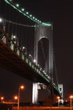Verrazano Bridge at Night. From Brooklyn in New York City Royalty Free Stock Photo