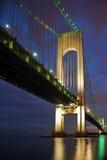 Verrazano Bridge at Night Royalty Free Stock Image