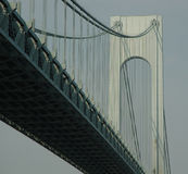 Verrazano Bridge, NYC. Black and White picture of the Verrazano Bridge in New York City Royalty Free Stock Photos