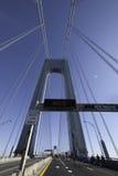 Verrazano Bridge Sign - Good Luck Athletes Stock Photography