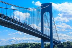 Verrazano Bridge and Sky. The Verrazano-Narrows Bridge spanning Staten Island and Brooklyn New York stock photos