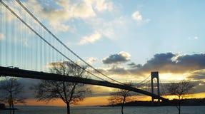 Verrazano Bridge Sunset Royalty Free Stock Images