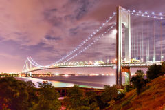 Verrazano Bridge Underpass Royalty Free Stock Photos