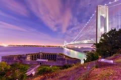Verrazano Bridge Underpass Royalty Free Stock Images