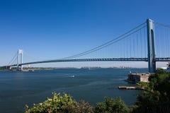 Verrazano-Enangosta el puente Foto de archivo libre de regalías