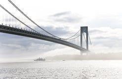 Verrazano-Estreita a ponte Imagens de Stock