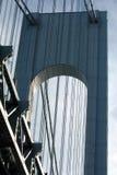 Verrazano-Limita la torretta del ponticello Fotografia Stock Libera da Diritti