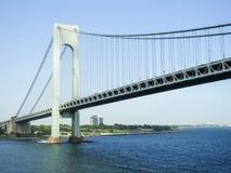 Verrazano most Krzyżuje na hudsonie Fotografia Stock