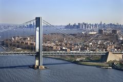 Verrazano-Narrow's Bridge. Stock Photography