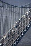 Verrazano-Narrow's Bridge. Aerial view of New York City's Verrazano-Narrow's bridge with traffic royalty free stock photography