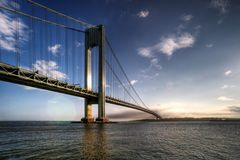 Verrazano-Narrows Bridge. Connecting Brooklyn and Staten Island, New York City stock photo