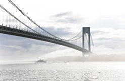 Verrazano-Narrows Bridge. New York city, image of Verrazano-Narrows Bridge stock images