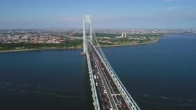 Verrazano Narrows Bridge stock video footage