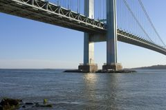 Verrazano Narrows Bridge -3. Verrazano Narrows Bridge connecting the New York City boroughs of Brooklyn and Richmond Staten Island viewed from Brooklyn stock image