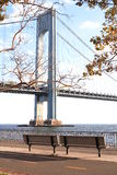 The Verrazano-Narrows Bridge. The largest and longest bridge in New York City stock images
