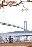The Verrazano-Narrows Bridge. The largest and longest bridge in New York City stock image