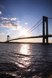 The Verrazano-Narrows Bridge. Verrazano-Narrows Bridge , The largest and longest bridge in New York City stock photos