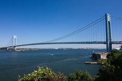 Verrazano-Narrows Bridge, New York. City royalty free stock photo