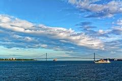 Verrazano-Narrows Bridge, New York, USA Stock Images