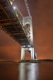 Verrazano Narrows Bridge at Night Stock Photos