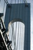 Verrazano-Narrows Bridge Tower. Detail, New York City, USA royalty free stock photography